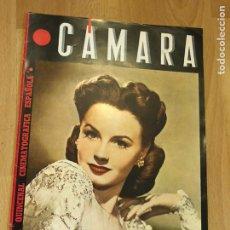 Cine: REVISTA DE CINE CÁMARA.JANET BLAIR.LA VIDA DE CHARLOT CECIL B DE MILLE MARZO 1945. Lote 145587454