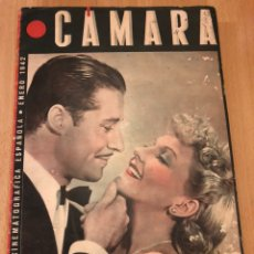 Cine: REVISTA DE CINE CÁMARA.DON AMECHE MARLENE DIETRICH CLARK GABLE GRETA GARBO RITA HAYWORTH.ENERO 1942. Lote 145595141