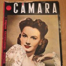 Cine: REVISTA DE CINE CÁMARA.JANET BLAIR.LA VIDA DE CHARLOT CECIL B DE MILLE MARZO 1945. Lote 145596881