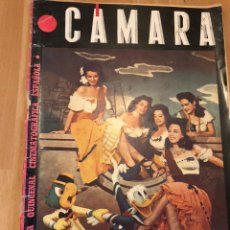 Cinéma: REVISTA DE CINE CÁMARA.AURORA MIRANDA PAYO DONALD. VIVIEN LEIGH LANA TURNER.DICIEMBRE 1945. Lote 145599693