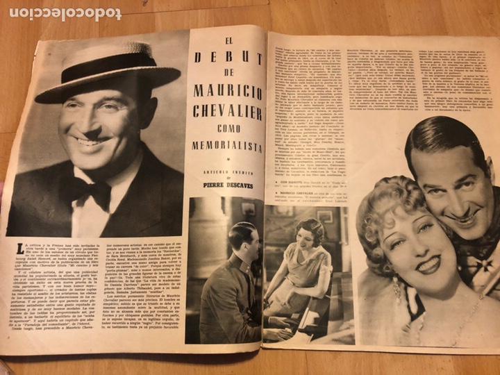 Cine: Revista de cine cámara.laraine day.chevalier cugat Ana mariscal.julio 1946 - Foto 3 - 145600424