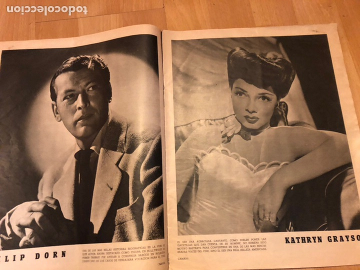 Cine: Revista de cine cámara.laraine day.chevalier cugat Ana mariscal.julio 1946 - Foto 4 - 145600424