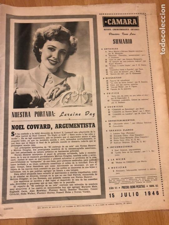 Cine: Revista de cine cámara.laraine day.chevalier cugat Ana mariscal.julio 1946 - Foto 7 - 145600424