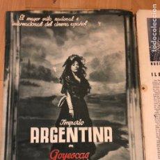 Cine: REVISTA DE CINE CÁMARA.IMPERIO ARGENTINA JUANITA REINA MARLENE DIETRICH.OCTUBRE 1942. Lote 145600970