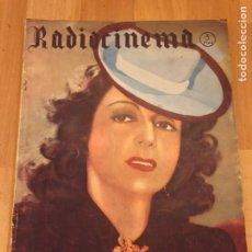 Cine: REVISTA DE CINE RADIOCINEMA.IMPERIO ARGENTINA JUANITA REINA.SEPTIEMBRE 1942. Lote 145601558