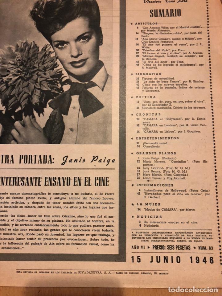 Cine: Revista de cine cámara.janis Paige judy garland lana turner.junio 1946 - Foto 6 - 145608250
