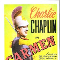 Cine: CARMEN (CHARLES CHAPLIN) PROGRAMA DE MANO MODERNO NO ORIGINAL. Lote 145919158