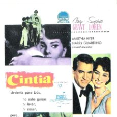 Cine: CINTIA (MARTHA HYER) PROGRAMA DE MANO MODERNO NO ORIGINAL. Lote 146142222