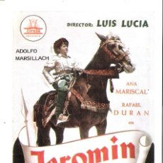 Cine: JEROMIN (RAFAEL DURAN) PROGRAMA DE MANO MODERNO NO ORIGINAL. Lote 146142630