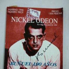 Cine: NICKEL ODEON. REVISTA TRIMESTRAL DE CINE. Nº 13 INVIERNO 1998 / BUÑUEL 100 AÑOS. Lote 146173058