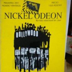 Cine: REVISTA: NICKEL ODEON NUM 22, PRIMAVERA 2001 - LA LISTA NEGRA HOLLYWOOD. REVISTA TRIMESTRAL DEL CIN. Lote 146173302