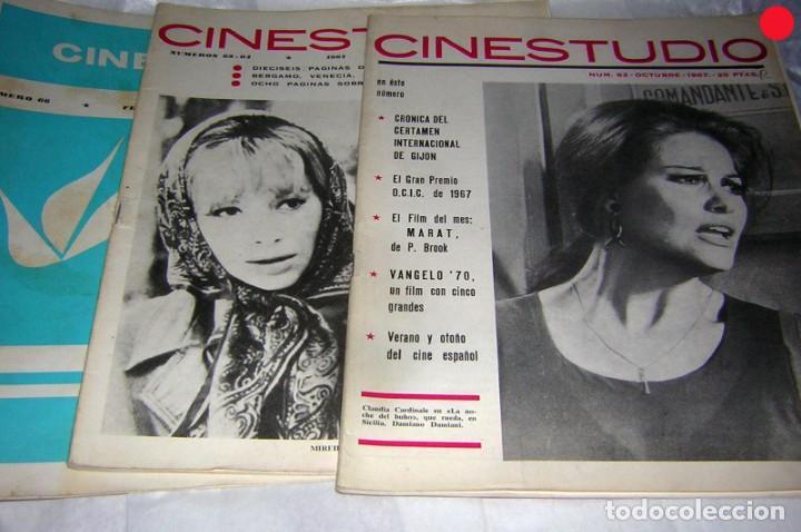 CINESTUDIO DE AÑOS 60 3 REVISTAS. NºS, 62, 63/64 Y 66 (Cine - Revistas - Otros)