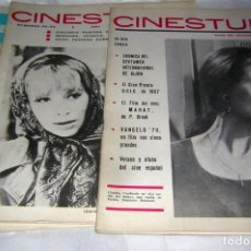 Cine: CINESTUDIO DE AÑOS 60 3 REVISTAS. NºS, 62, 63/64 Y 66. Lote 146266782