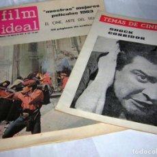 Cine: REVISTAS DE CINE ANTIGUAS, AÑOS 60 FILM IDEAL Nº, 137 Y TEMAS DE CINE. Lote 146274626