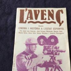 Cine: REVISTA CINE L ' AVENC EN CATALAN. Lote 146369512