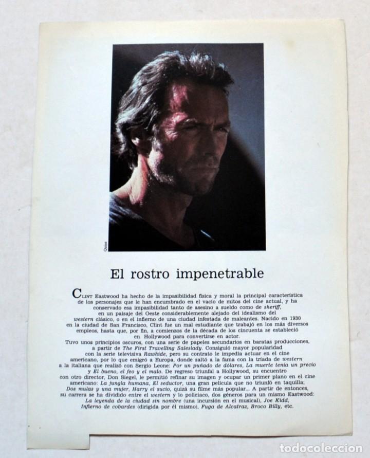 Cine: LAMINA DE REVISTA AÑOS 80: CLINT EASTWOOD - Foto 2 - 146446238