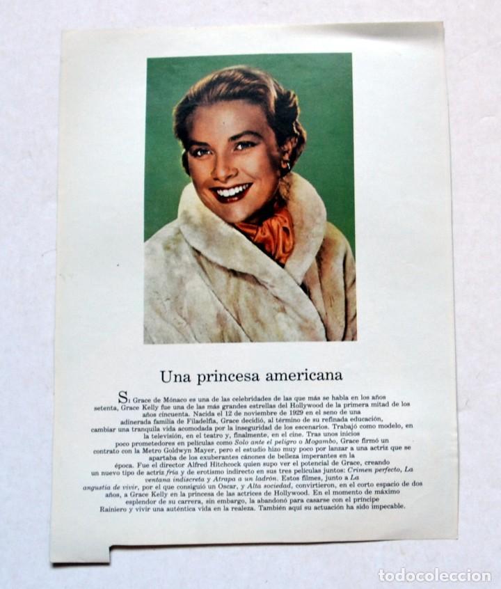 Cine: LAMINA DE REVISTA AÑOS 80: GRACE KELLY - Foto 2 - 146446738