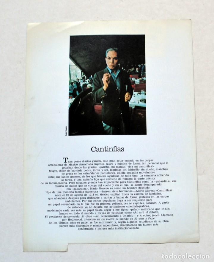 Cine: LAMINA DE REVISTA AÑOS 80: MARIO MORENO CANTINFLAS - Foto 2 - 146447218