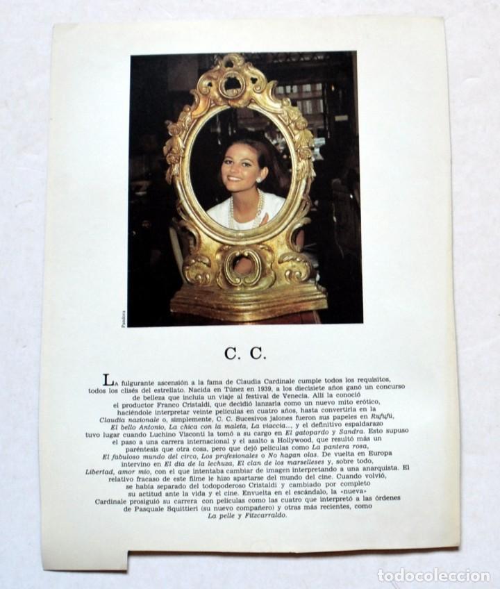 Cine: LAMINA DE REVISTA AÑOS 80: CLAUDIA CARDINALE - Foto 2 - 146447478