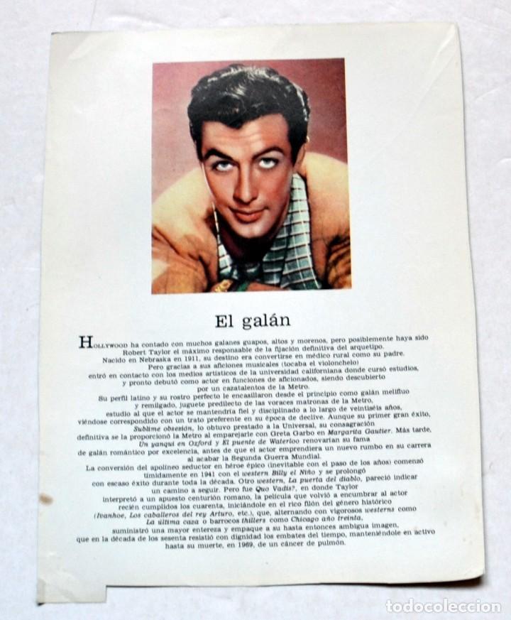 Cine: LAMINA DE REVISTA AÑOS 80: ROBERT TAYLOR - Foto 2 - 146537098