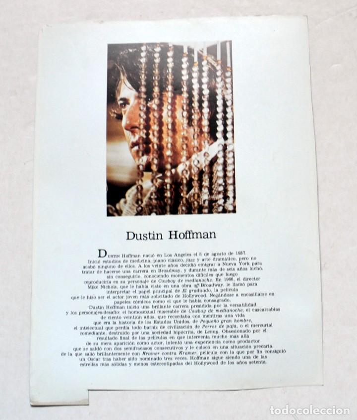 Cine: LAMINA DE REVISTA AÑOS 80: DUSTIN HOFFMAN - Foto 2 - 146537918