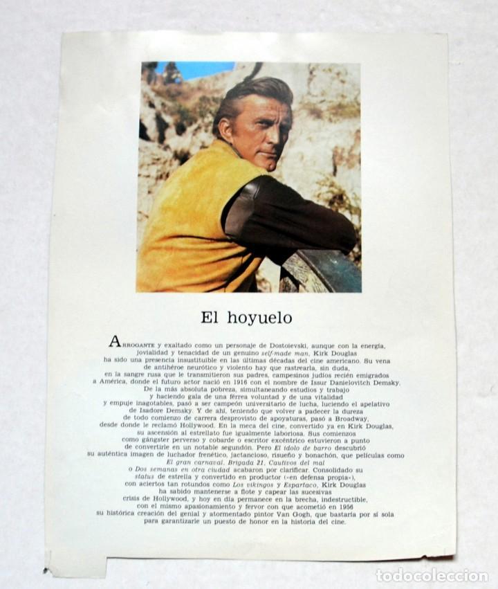 Cine: LAMINA DE REVISTA AÑOS 80: KIRK DOUGLAS - Foto 2 - 146545218