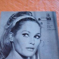 Cine: CARTELERA TURIA URSULA ANDRESS 1968. Lote 146626125