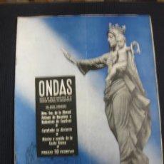 Cine: REVISTA ONDAS Nº 4. SEPTIEMBRE 1952. Nª SRA. DE LA MERCED. FIESTA MAYOR DE BARCELONA. Lote 146764574
