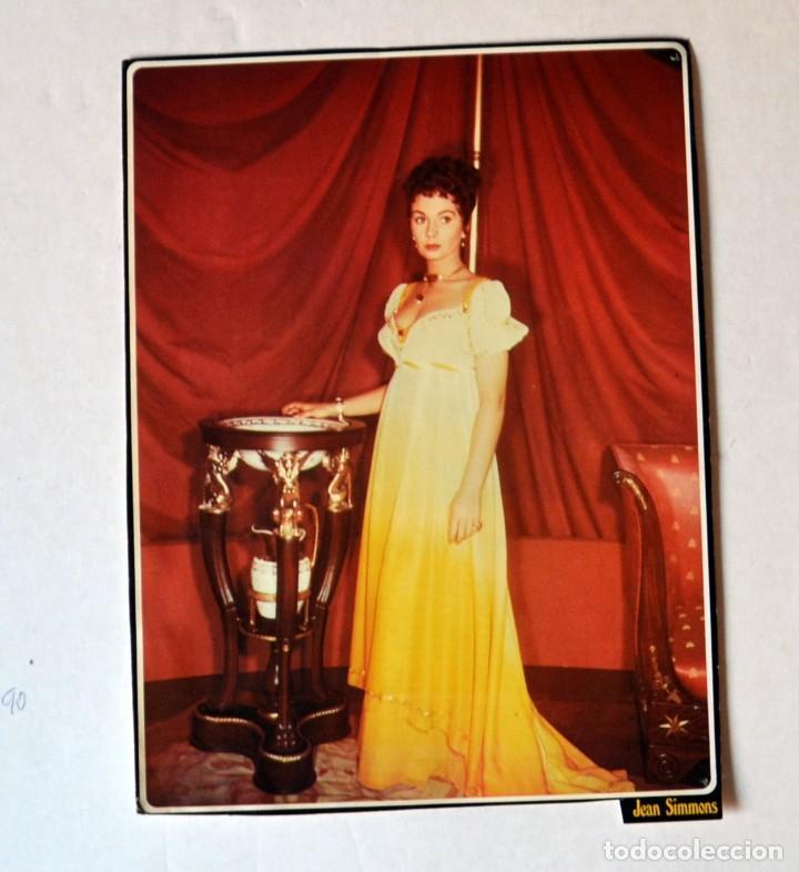 LAMINA DE REVISTA AÑOS 80: JEAN SIMMONS (Cine - Revistas - Colección ídolos del cine)