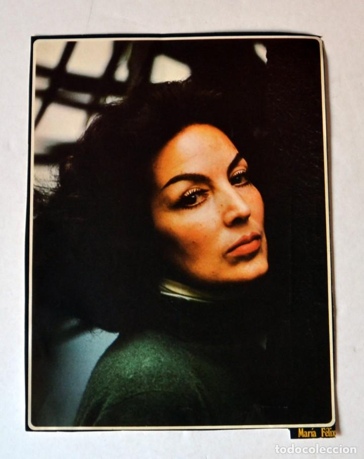 LAMINA DE REVISTA AÑOS 80: MARÍA FÉLIX (Cine - Revistas - Colección ídolos del cine)