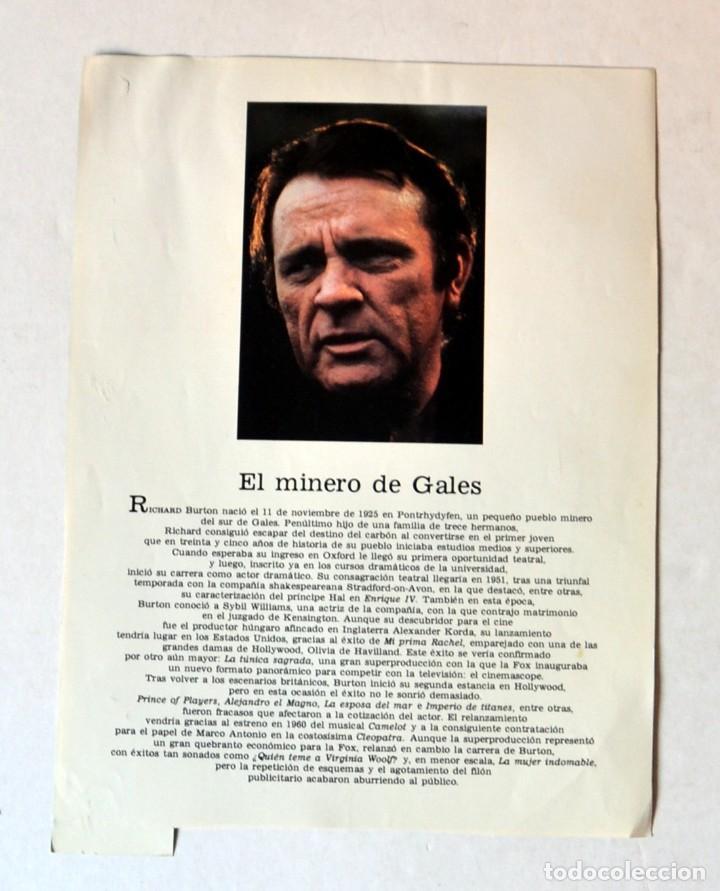Cine: LAMINA DE REVISTA AÑOS 80: RICHARD BURTON - Foto 2 - 146767694