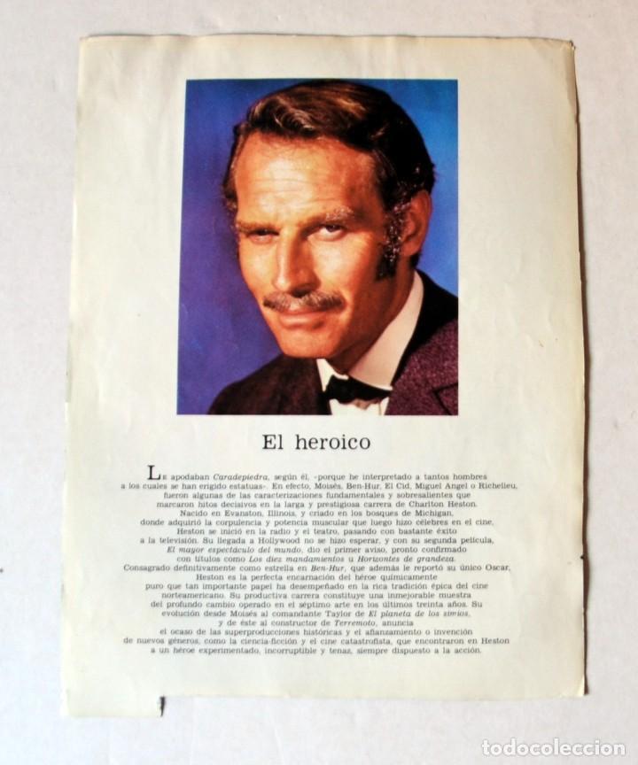 Cine: LAMINA DE REVISTA AÑOS 80: CHARLTON HESTON - Foto 2 - 146767934