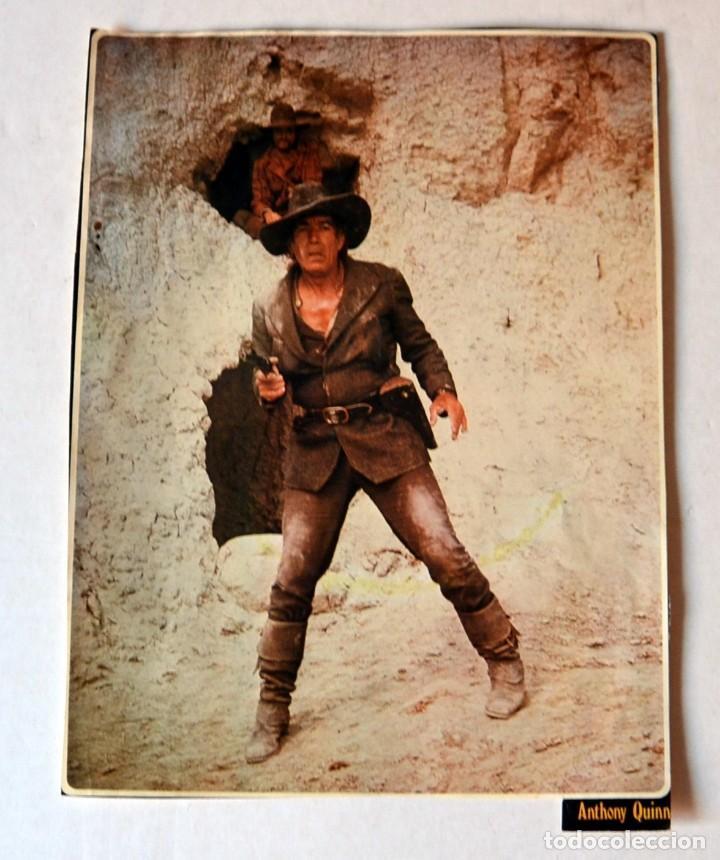 LAMINA DE REVISTA AÑOS 80: ANTHONY QUINN (Cine - Revistas - Colección ídolos del cine)