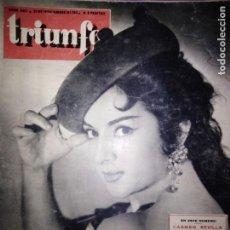 Cine: REVISTA TRIUNFO Nº 562 - LOLA FLORES - CARMEN SEVILLA - ABBE LANE - BOGART --- 1956. Lote 146797610