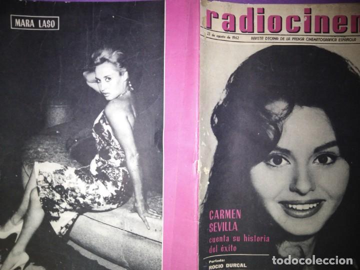 RADIOCINEMA 23 DE AGOSTO 1962 N 544 PORTADA ROCIO DURCAL CARMEN SEVILLA CUENTA SU HISTORIA DE EXITO (Cine - Revistas - Radiocinema)