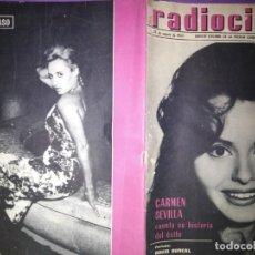 Cine: RADIOCINEMA 23 DE AGOSTO 1962 N 544 PORTADA ROCIO DURCAL CARMEN SEVILLA CUENTA SU HISTORIA DE EXITO . Lote 146801022