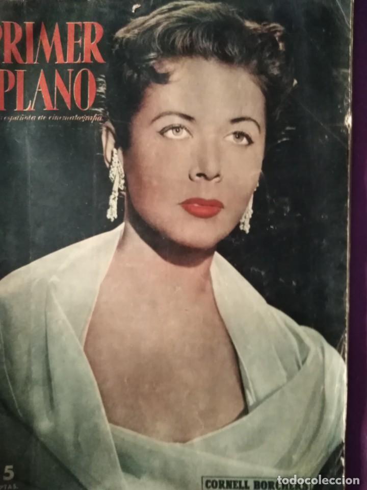 PRIMER PLANO CORNELL BORCHERS EN PORTADA ARTICULO SARA MONTIEL EN MADRID 2 DE JUNIO 1957 (Cine - Revistas - Primer plano)