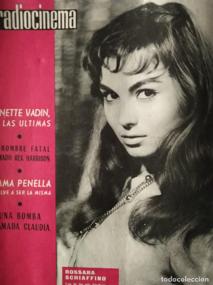 RADIOCINEMA ROSSANA SCHIAFFINO ANNETE VADIN REX HARRISON EMMA PENELLA CLAUDIA 1961 (Cine - Revistas - Radiocinema)