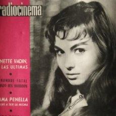 Cine: RADIOCINEMA ROSSANA SCHIAFFINO ANNETE VADIN REX HARRISON EMMA PENELLA CLAUDIA 1961. Lote 146802950