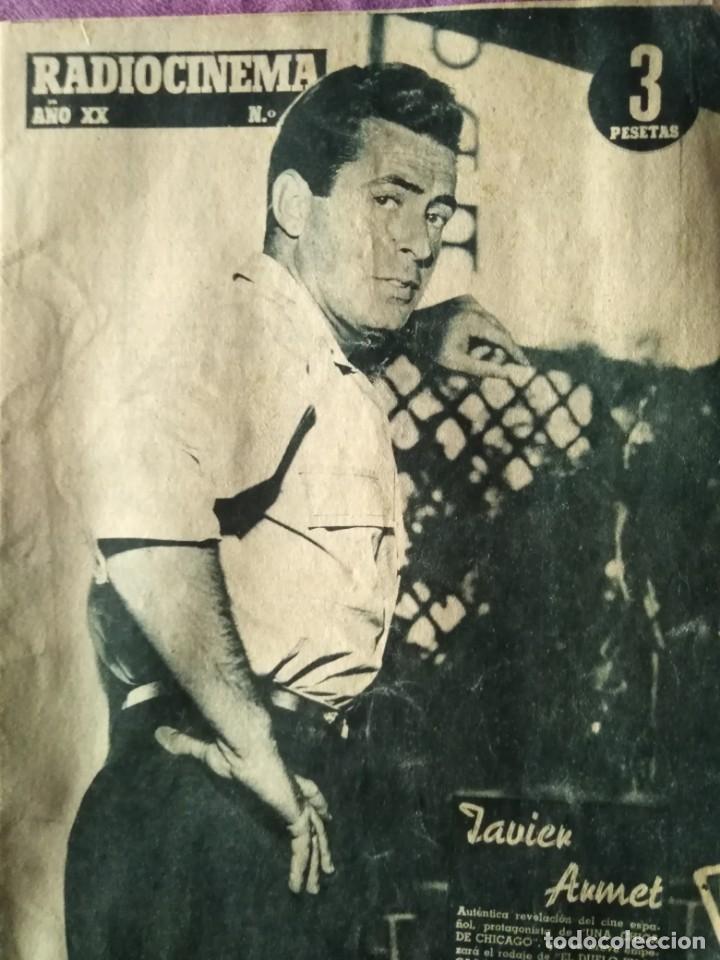 RADIOCINEMA AÑO XX JAVIER ARMET 1958 NOVIEMBRE 29 SABADO (Cine - Revistas - Radiocinema)