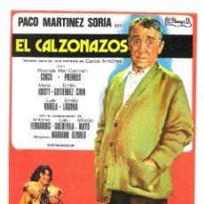 Cine: EL CALZONAZOS (PACO MARTINEZ SORIA)PROGRAMA DE MANO MODERNO NO ORIGINAL. Lote 146922206