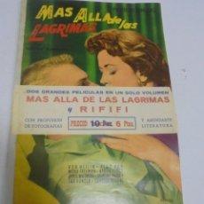 Cine: COLECCION GRANDES PELICULAS. MAS ALLA DE LAS LAGRIMAS Y RIFIFI. VERSION COMPLETA. CON CINTA. Lote 147139942