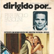 Cine: DIRIGIDO POR ... PIER PAOLO PASOLINI. REVISTA CINEMATOGRÁFICA. Nº 28. NVBRE/DCB 1975. (B/A60). Lote 147370790
