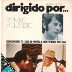 Cine: DIRIGIDO POR ... ROMAN POLANSKI. REVISTA CINEMATOGRÁFICA. Nº 19. ENERO 1975. (B/A60). Lote 147372026