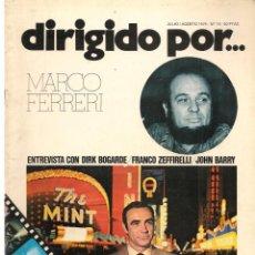 Cine: DIRIGIDO POR ... MARCO FERRERI. REVISTA CINEMATOGRÁFICA. Nº 15. JULIO/AGOSTO 1974. (B/A60). Lote 147372778