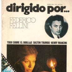 Cine: DIRIGIDO POR ... FEDERICO FELLINI. REVISTA CINEMATOGRÁFICA. Nº 9. ENERO 1974. (B/A60). Lote 147374158