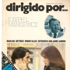 Cinema - DIRIGIDO POR ... JOSEPH L. MANKIEWICZ. REVISTA CINEMATOGRÁFICA. Nº 10. FEBRERO 1974. (B/A60) - 147374802