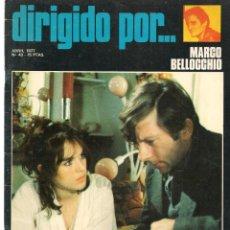 Cine: DIRIGIDO POR ... MARCO BELLOCCHIO. REVISTA CINEMATOGRÁFICA. Nº 43. ABRIL 1977. (B/A60). Lote 147375354