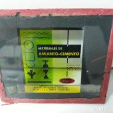 Cine: DIAPOSITIVA CRISTAL D PROYECTOR D CINE MATERIALES DE AMIANTO Y CEMENTO URALITA. Lote 147400182