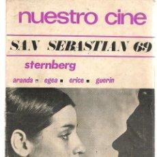Cine: NUESTRO CINE. Nº 87. SAN SEBASTIÁN 69. JULIO 1969. (B/A60). Lote 147465042